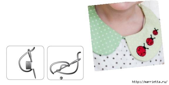 Воротничок для девочки с вышивкой божьих коровок (2) (575x289, 49Kb)