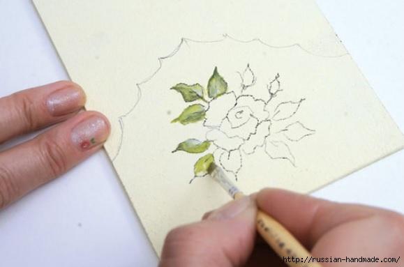 Фото мастер-класс по росписи стеклянной масленки (8) (579x383, 86Kb)