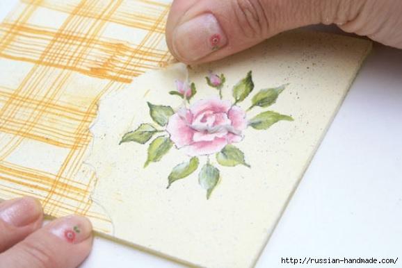 Фото мастер-класс по росписи стеклянной масленки (18) (578x386, 118Kb)