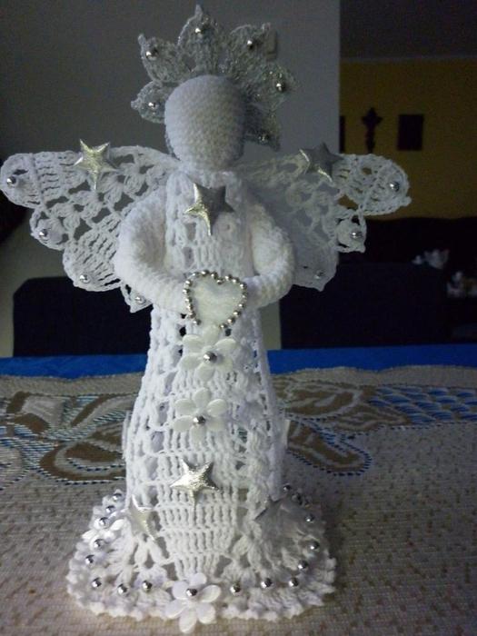 Рождественские ангелы крючком (2) (525x700, 247Kb)