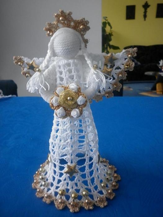 Рождественские ангелы крючком (8) (525x700, 214Kb)