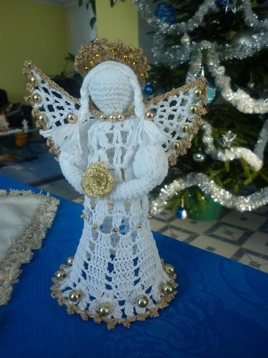 Рождественские ангелы крючком (12) (525x700, 256Kb)