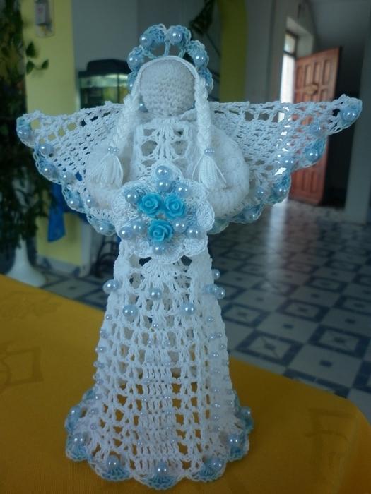 Рождественские ангелы крючком (16) (525x700, 242Kb)