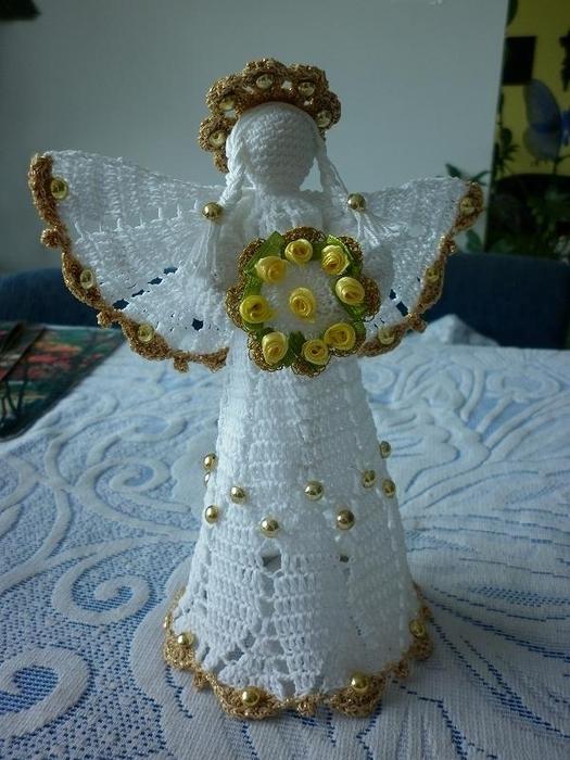 Рождественские ангелы крючком (93) (525x700, 257Kb)