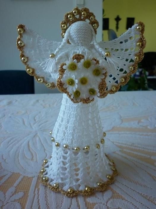 Рождественские ангелы крючком (102) (525x700, 236Kb)