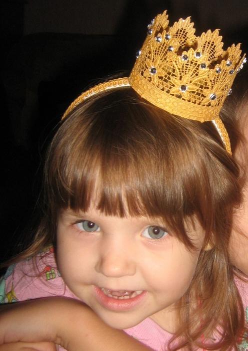 Корона для девочки своими руками фото