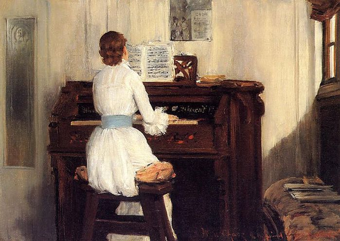1William Merritt Chase (1849-1916) Mrs Meigs at the Piano Organ 1883 (2) (700x496, 74Kb)