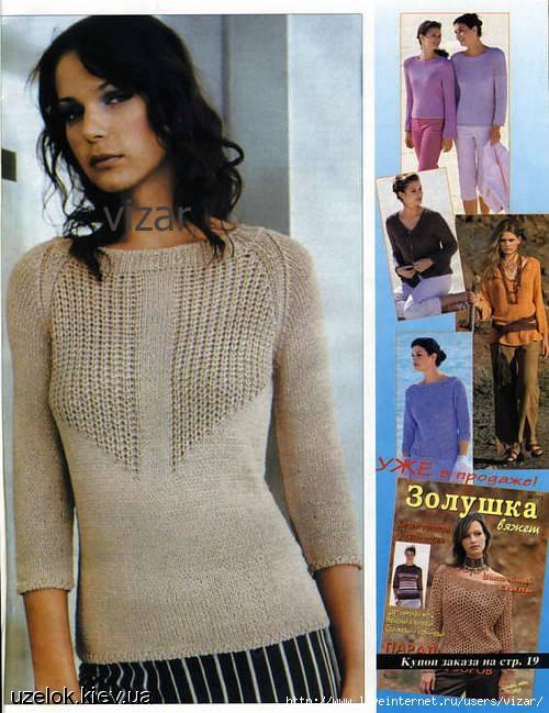 Вязание джемпера для женщин