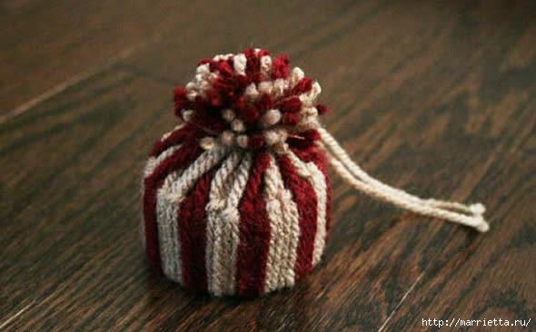 Дед Мороз и елочная игрушка из картона (13) (590x366, 114Kb)