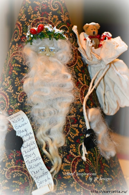 Дед Мороз и елочная игрушка из картона (15) (426x640, 252Kb)