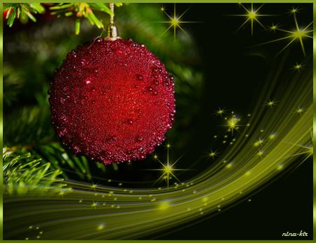 Красный-шарик-на-ветке-черн (450x346, 240Kb)