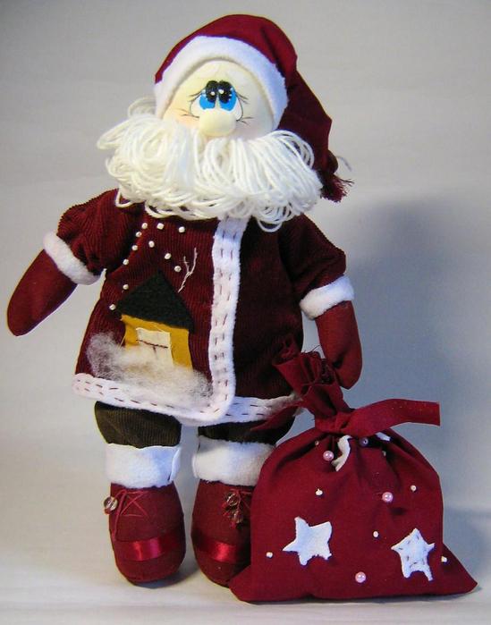 Дед мороз текстиль своими руками 41