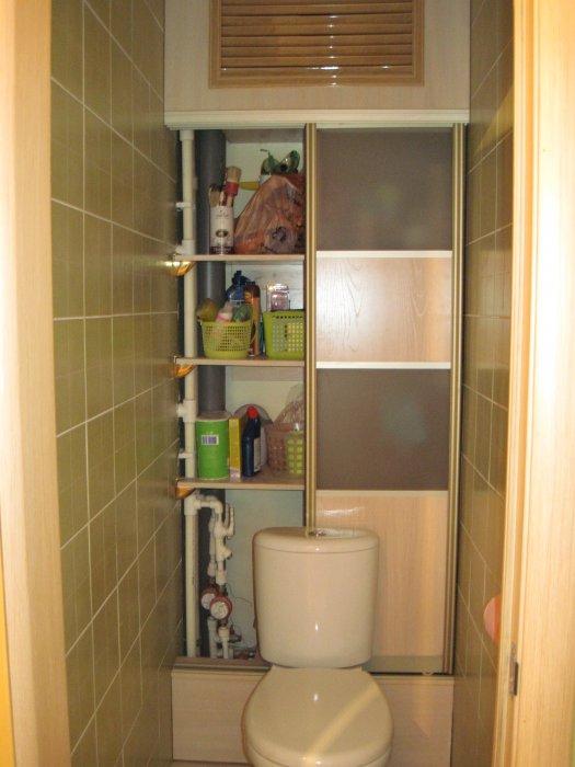 Как сделать полку в туалете фото
