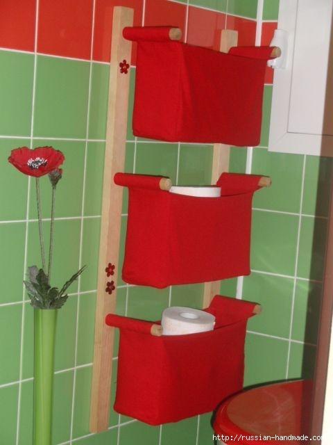 Отличная идея для ванной комнаты. Шьем кармашки (2) (480x640, 107Kb)