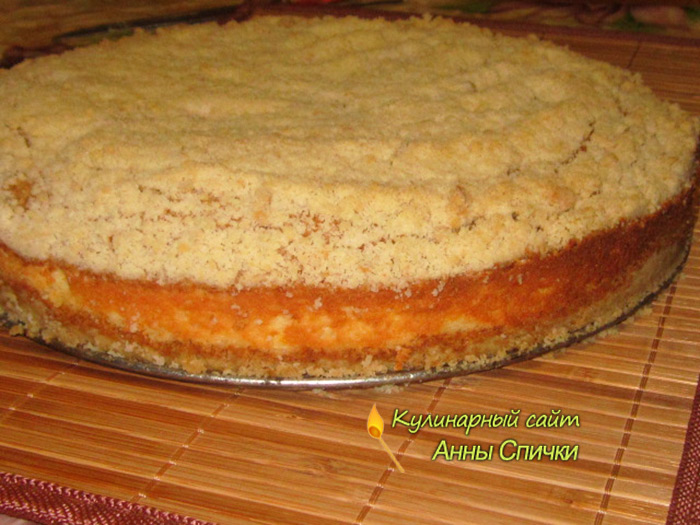 Торт из песочного теста с творогом