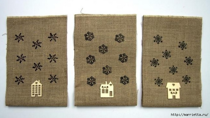 Идеи упаковки новогодних подарков. Шьем мешочки и украшаем их орешками (4) (675x380, 160Kb)
