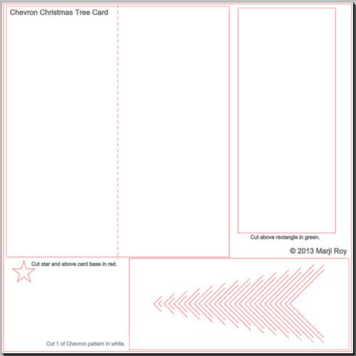Новогодние елочки из картона. Открытка и силуэтная елочка (1) (500x501, 52Kb)