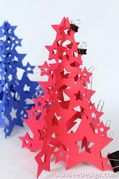 Новогодние елочки из картона. Открытка и силуэтная елочка (19) (400x600, 142Kb)