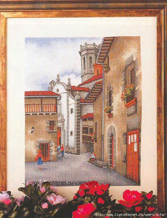 Вышивки итальянских пейзажей