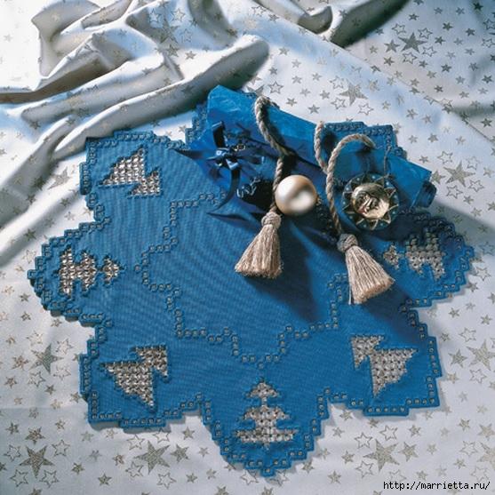 Рождественская вышивка. Схемы (4) (557x557, 251Kb)