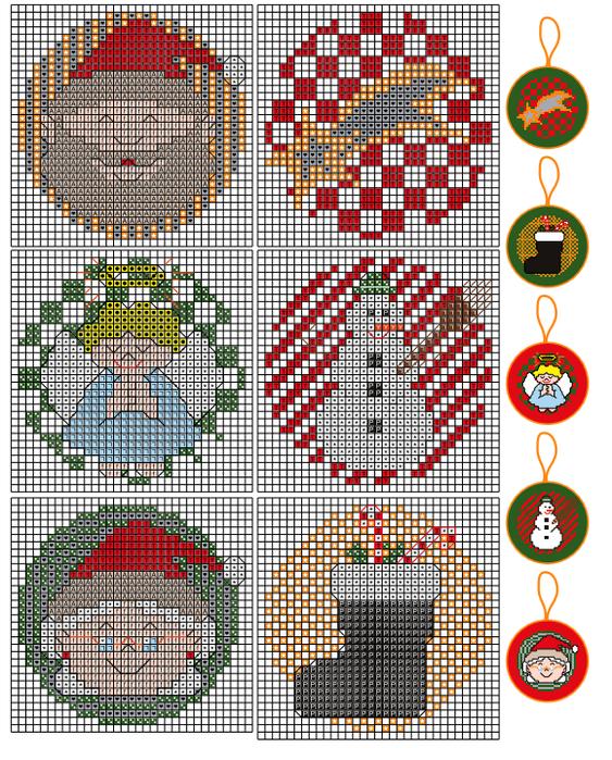 Схемы для вышивки игрушек на елку 418
