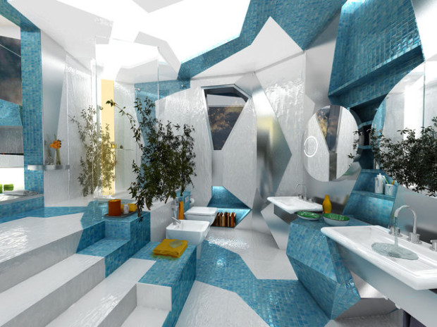 красивый дизайн ванной комнаты 10 (620x464, 225Kb)