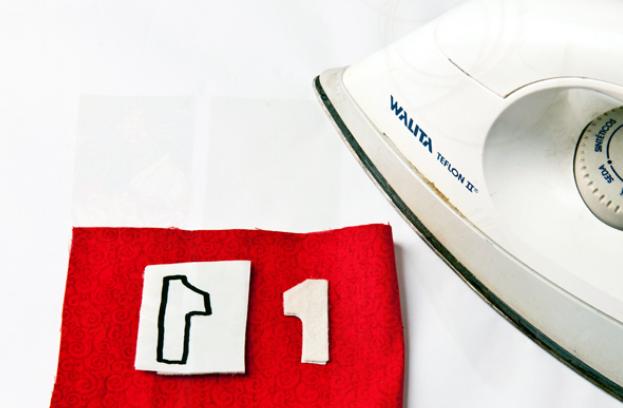 Calendario Adviento textiles.  Modelo del muñeco de nieve (5) (623x408, 346KB)