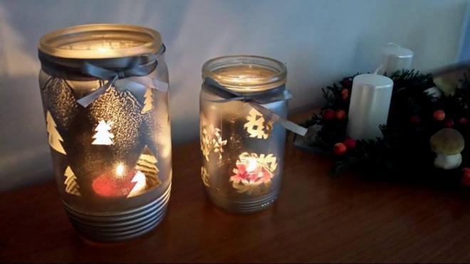 Рождественские подсвечники из баночек (1) (660x371, 90Kb)