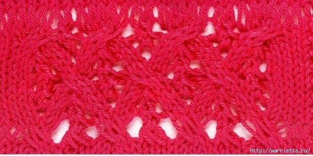 Вязание спицами. модели и схемы узоров (1) (625x311, 146Kb)