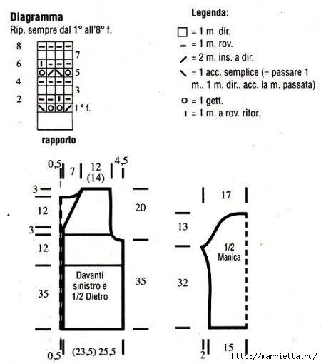 Вязание спицами. модели и схемы узоров (3) (450x510, 75Kb)