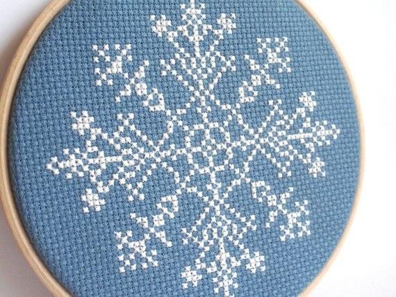 снежинки крестиком схема1