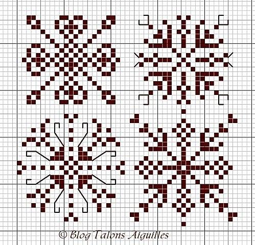 снежинки крестиком схема4