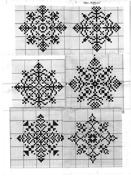 снежинки крестиком схема8