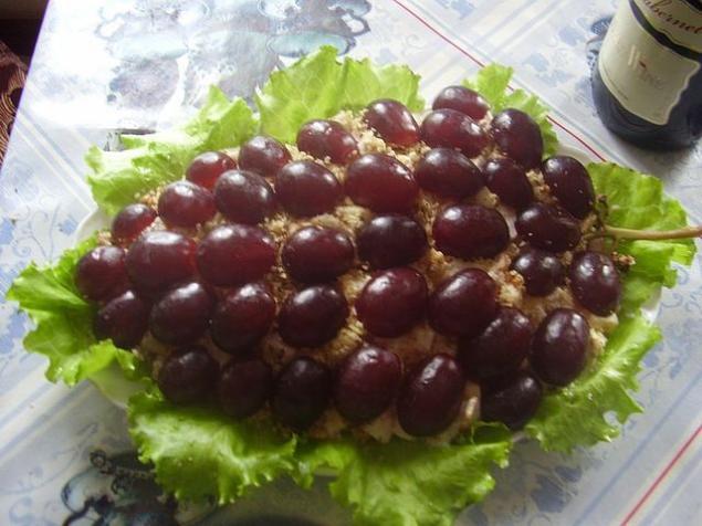 Виноград салат рецепт с