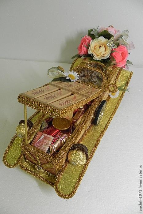 РЕТРО АВТОМОБИЛИ из шоколадных конфет (51) (466x700, 263Kb)