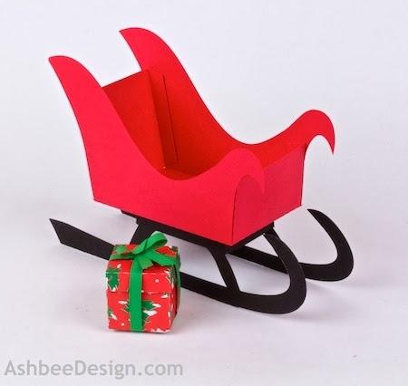 Renos y trineo con los regalos de Navidad de papel.  Plantillas (56) (450x426, 72Kb)