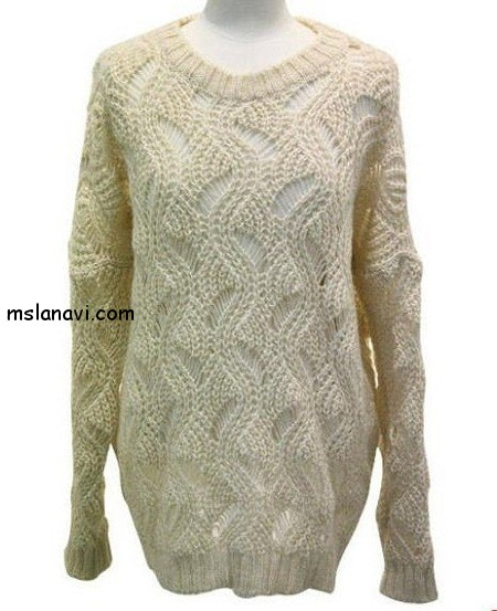 Женский-свитер-спицами (450x553, 66Kb)