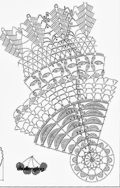 Вязание крючком. Замечательные салфетки и сумочка. Схемы (37) (408x640, 228Kb)