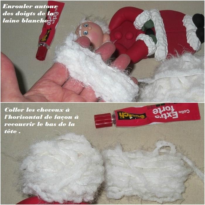 Дед Мороз из холодного фарфора. Фото мастер-класс (17) (700x700, 347Kb)