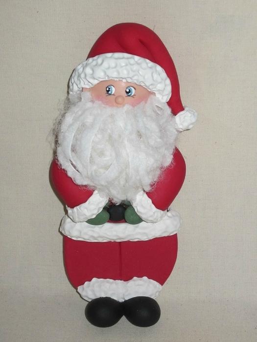 Дед Мороз из холодного фарфора. Фото мастер-класс (21) (525x700, 232Kb)