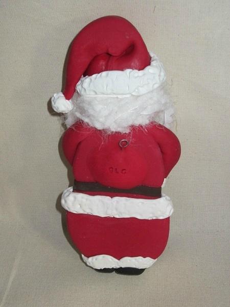 Дед Мороз из холодного фарфора. Фото мастер-класс (23) (450x600, 176Kb)