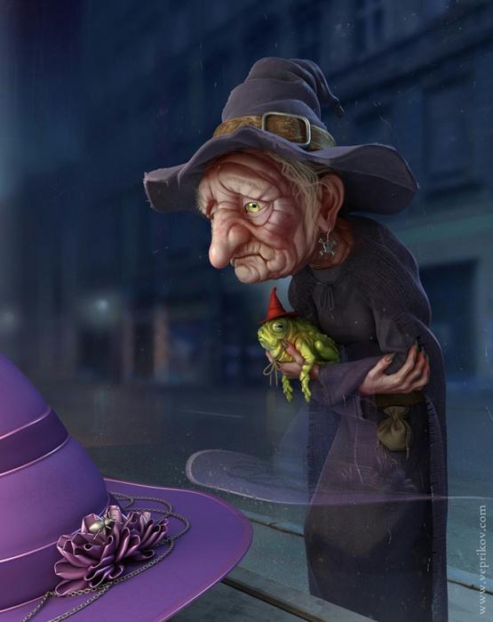 1 Старая ведьма (555x700, 304Kb)