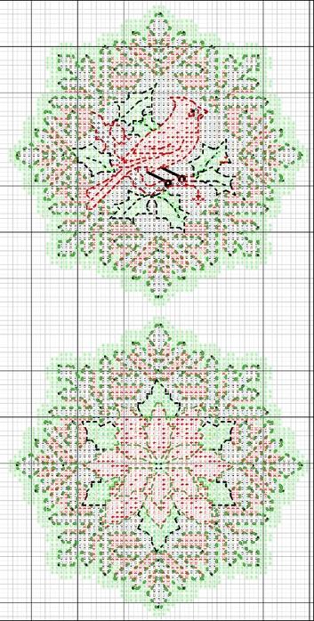 схемы вышивки снежинок (8) (353x700, 260Kb)
