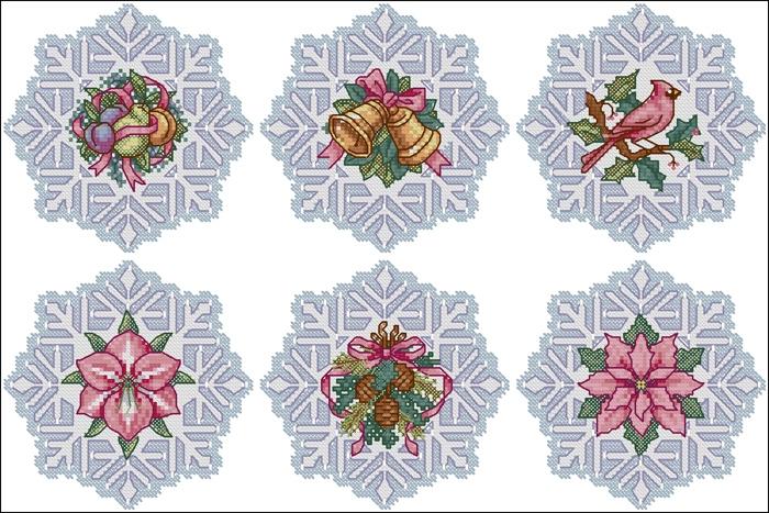 схемы вышивки снежинок (7) (700x467, 345Kb)