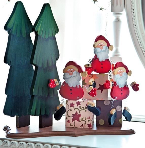 Дед Мороз из фанеры. Шаблон (1) (572x582, 171Kb)
