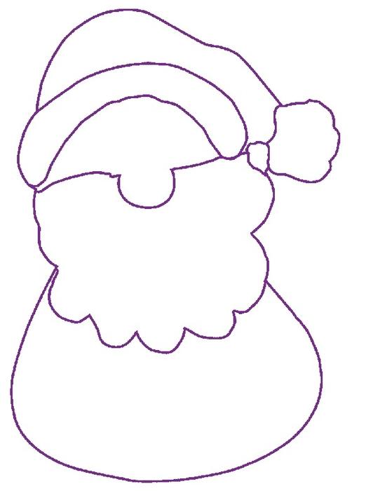 Дед Мороз из фанеры. Шаблон (2) (522x700, 94Kb)