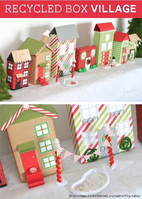 Recycled-Boxes-Christmas-Village (501x700, 261Kb)
