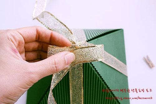 Подарочная упаковка - коробочка пирамида своими руками (3) (500x334, 113Kb)