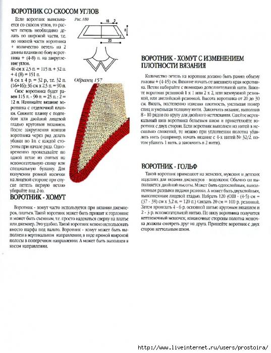 Вязание спицами реглан от воротника 31