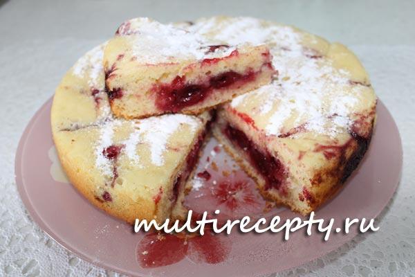Рецепт пирога с вишней в мультиварке